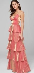 Bebe Pink Ruffle Tier Special Ocassion gown